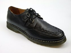 Quartz PAOLO VANDINI Retro Black Leather Creepers