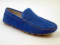 PAOLO VANDINI RETRO DRIVING SHOES TAXI MOD BLUE