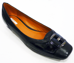 Stefany GEOX 60s Mod Leather & Patent Buckle Shoes