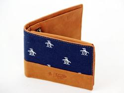 ORIGINAL PENGUIN Retro Canvas Billfold Wallet