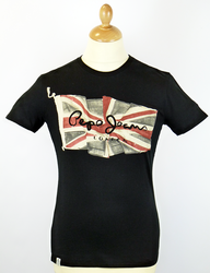 Flag Logo PEPE JEANS Retro Union Jack T-Shirt (B)