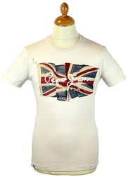 Flag Logo PEPE JEANS Retro Union Jack T-Shirt (N)