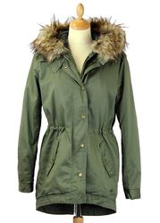 New in - Seattle PEPE JEANS Retro Mod Hooded Fishtail Parka