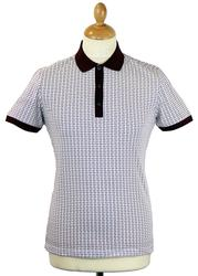 Azumi PETER WERTH Abstract Dogtooth Retro Mod Polo