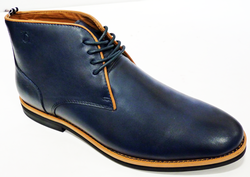 Bloom PETER WERTH Retro 60s Mod Piped Chukka Boots
