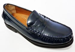 Burke PETER WERTH Retro Mod Blue Penny Loafers