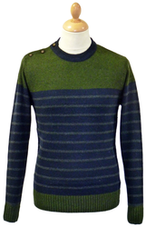 King PETER WERTH Retro Mod Breton Stripe Jumper
