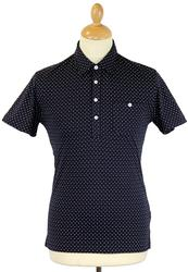 Ramon PETER WERTH Retro Mod Polka Dot Diamond Polo