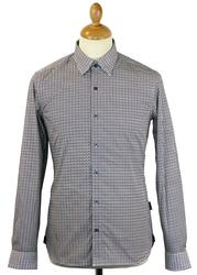 Gasper PETER WERTH Abstract Dogtooth 60s Mod Shirt