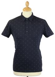 Jaray PETER WERTH Retro Mod Double Dot Pique Polo