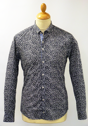 Redford Print PETER WERTH Retro Floral Mod Shirt