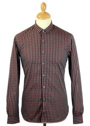 Florey PETER WERTH Mod Micro Collar Check Shirt