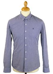 Ellington Cut PETER WERTH 60s Mod Gingham Shirt N