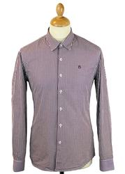 Ellington Cut PETER WERTH 60s Mod Gingham Shirt B