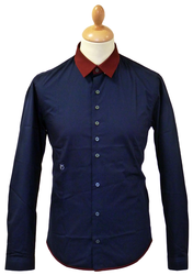 Marlowe PETER WERTH Retro 60s Mod 2-Tone Shirt N