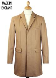Cropley PETER WERTH Mod Made in England Camel Coat