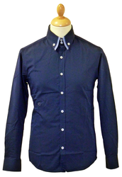 Drake PETER WERTH Retro Pacino Collar Mod Shirt N