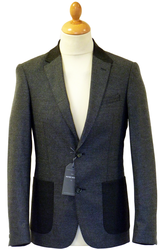 North PETER WERTH Retro Mod Herringbone Blazer