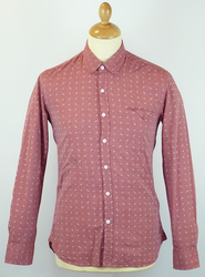 Remington PETER WERTH Retro Geo Print Mod Shirt R