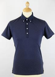 Ritchie PETER WERTH Retro 60s Polka Dot Mod Polo