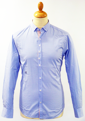 Raynor PETER WERTH Retro 60s Microdot Mod Shirt