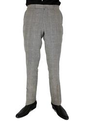 N1 Cut PETER WERTH Mod POW Check Linen Trousers
