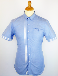 Mews PETER WERTH Mod Racing Stripe Oxford Shirt
