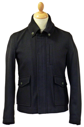 Awdry PETER WERTH Retro Mod Button Down Car Coat