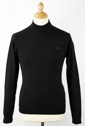 PETER WERTH Retro 60s Mod Mock Turtleneck Jumper B