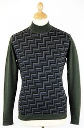Hicks PETER WERTH Retro Zig-Zag Turtleneck Jumper