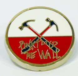 Pink Floyd The Wall Crossed Hammers Retro Badge