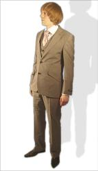 'Vespa Mod Suit' - 3 Piece Suit by GIBSON LONDON