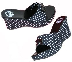'Polka-Wedge' - Sixties Wedge Sandals
