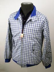 BARACUTA- Sixties Mod Powder Blue Check Slimfit G9