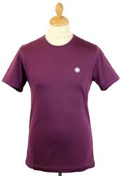 PRETTY GREEN Retro S/S Crew Neck T-Shirt (Purple)