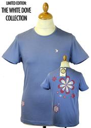 PRETTY GREEN Venwood Retro Floral Back Dove Tee