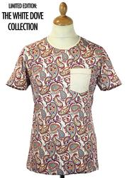 PRETTY GREEN Multi Paisley Retro 60s Mod T-Shirt