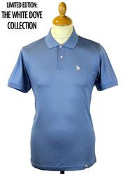 Dellcot PRETTY GREEN Retro 1960s Mod Dove Polo (B)