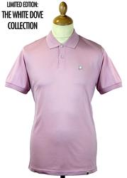 Dellcot PRETTY GREEN Retro 1960s Mod Dove Polo (P)