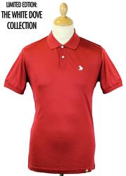 Dellcot PRETTY GREEN Retro 1960s Mod Dove Polo (R)