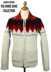 PRETTY GREEN Tatton Intarsia Shawl Collar Cardigan