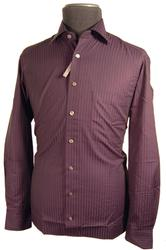 'Stripe Out' - Retro Mod Mens Shirt by DOUBLE TWO