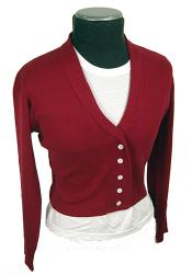 'Mansfield' -Retro Fifties Short Cardy (Raspberry)