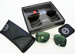 Ray-Ban Changeable Lens Set Retro Mod Sunglasses