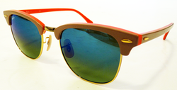 Ray-Ban Clubmaster Retro Mod Sunglasses (Orange)
