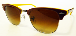 Ray-Ban Clubmaster Retro Mod Sunglasses (Yellow)