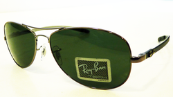 Ray-Ban Tech Carbon Fibre Retro Sunglasses (Gun)