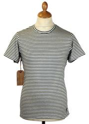 REALM & EMPIRE Retro Mod Stripe Crew Neck Tee (E)