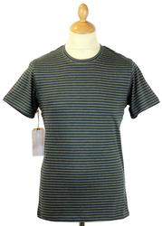 REALM & EMPIRE Retro Mod Stripe Crew Neck Tee (N)