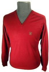 Gabicci Vintage Mens V-Neck Merinofine Jumper (C)